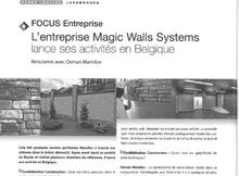 « Focus Entreprise L'entreprise Magic Walls Systems lance ses activites en Belgique»